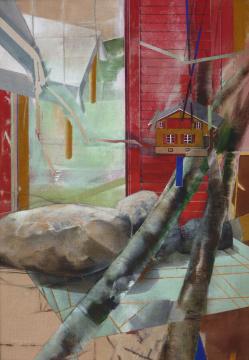 Elsass, 2010, Acryl auf Leinwand, 200 x 140 cm
