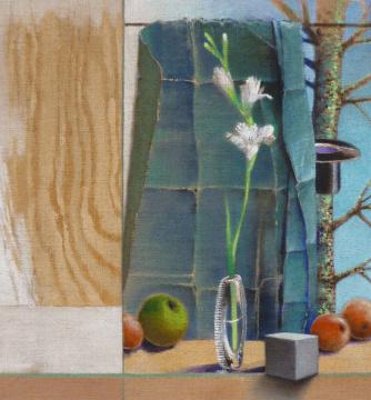 Auftritt, 2010, Acryl auf Leinwand, 70 x 65 cm