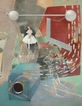 Projektion, 2010, Acryl auf Leinwand, 90 x 70 cm