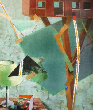 Traumhaus, 2010, Acryl auf Leinwand, 90 x 70 cm