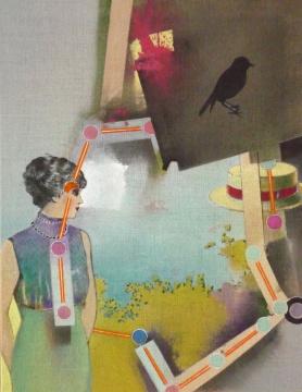 Gesellschaftsspiel, 2010, Acryl auf Leinwand, 90 x 70 cm