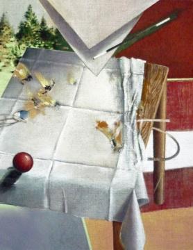 Finte, 2010, Acryl auf Leinwand, 90 x 70 cm