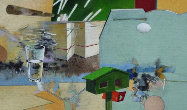 Überblick, 2010, Acryl auf Leinwand, 65 x 110 cm
