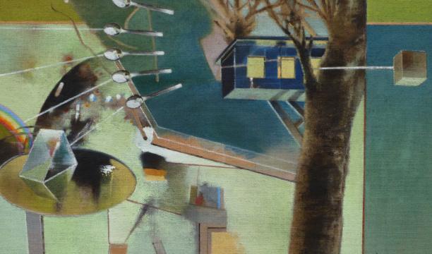 Heim / Neues Heim, 2010, Acryl auf Leinwand, 65 x 110 cm