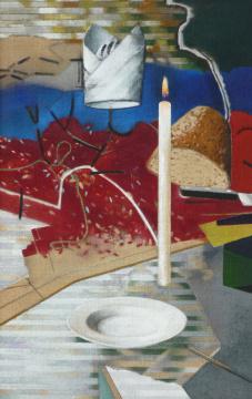 Mahl, 2011, Acryl auf Leinwand, 110 x 70 cm