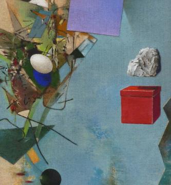 Souvenir, 2011, Acryl auf Leinwand, 70 x 65 cm