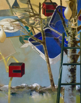 Reisefieber, 2011, Acryl auf Leinwand, 180 x 140 cm