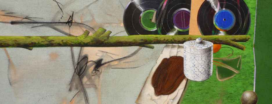 Sequenz, 2011, Acryl auf Leinwand, 70 x 180 cm