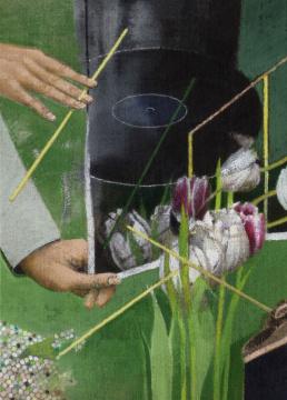 Grünklang, 2011, Acryl auf Leinwand, 70 x 50 cm