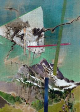 Fund (Ortstock), 2012, Acryl auf Leinwand, 70 x 50 cm