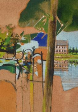 Niederrhein, 2012, Acryl auf Leinwand, 70 x 50 cm
