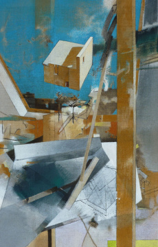 Hochschule, 2013, Acryl auf Leinwand, 140 x 90 cm