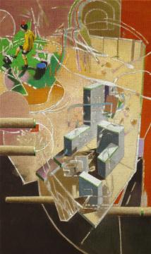 TippKick, 2008, Acryl auf Leinwand, 100 x 60 cm