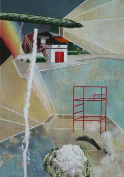 Humboldthain, 2008, Acryl auf Leinwand, 99 x 70 cm