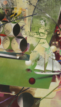 Fortuna, 2008, Acryl auf Leinwand, 200 x 115 cm