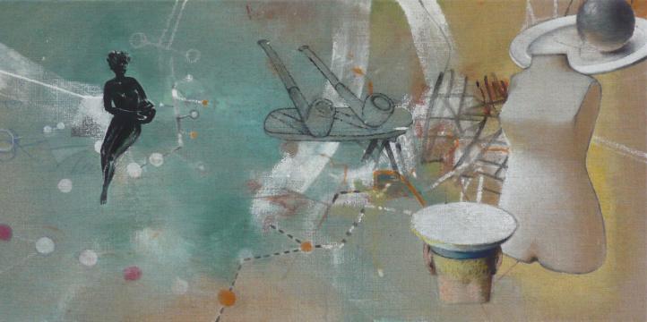 Reifeprüfung, 2008, Acryl auf Leinwand, 55 x 110 cm
