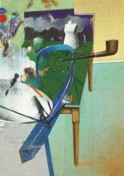 Herrenbild, 2009, Acryl auf Leinwand, 70 x 50 cm
