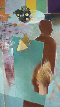 Start ´08, 2009, Acryl auf Leinwand, 210 x 115 cm