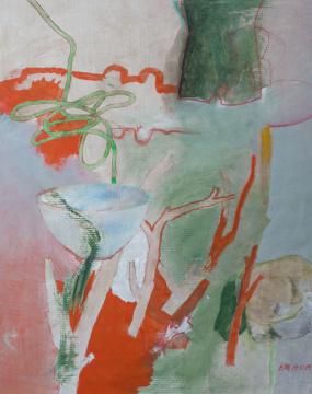 Äste, 2009, Acryl, Gouache und Farbstift auf Papier, 58 x 47 cm