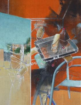 Dolci (Avola), 2013, Acryl auf Leinwand, 90x 70 cm