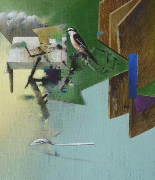 Frühlicht, 2014, Acryl auf Leinwand, 70 x60 cm