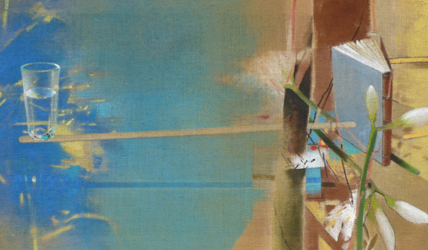 Ins Blaue, 2014, Acryl auf Leinwand, 65x 110 cm