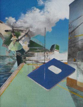 Oberdeck, 2013, Acryl auf Leinwand, 90 x70 cm