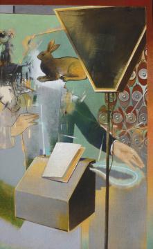 Teremin, 2013, Acryl auf Leinwand, 180x 110 cm