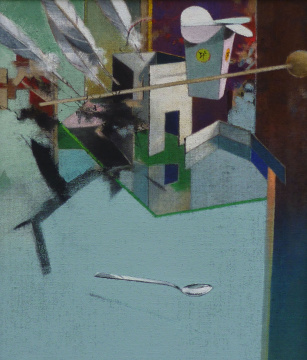 Kartonage, 2014, Acryl auf Leinwand, 70 x 60 cm