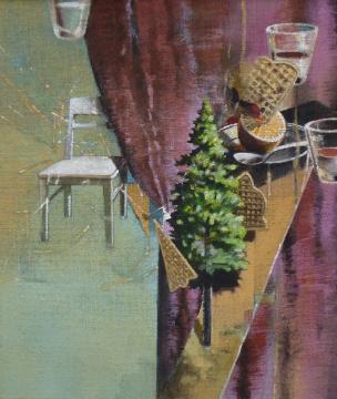 Winter, 2014, Acryl auf Leinwand, 70 x 60 cm