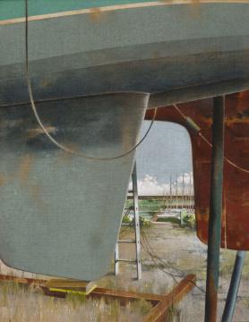Inspektion, 2015, Acryl auf Leinwand, 140 x 110 cm