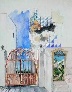 Haus Bela de Eirós, 30.07.2016, G,F/P, 31,0 x 24,5 cm