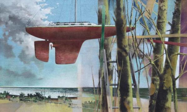Luftschiff, 2016, A/L,110 x 180 cm