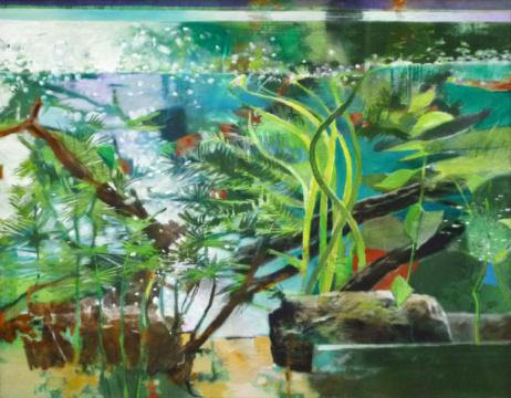 Kleines Aquarium, 2018, Acryl auf Leinwand, 55 x 70 cm