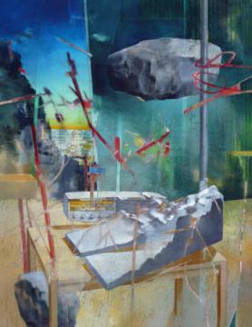 Sisyphos, 2018, Acryl auf Leinwand, 180 x 140 cm