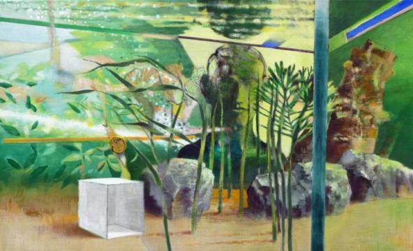Büste, 2019, Acryl auf Leinwand, 55 x 90 cm