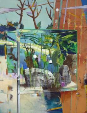 Großes Aquarium II, 2019, Acryl auf Leinwand, 180 x 140 cm