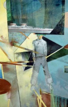 Matrose, 2020, Acryl auf Leinwand, 140, x 90 cm