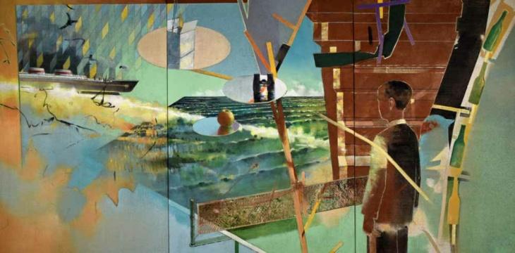 Saudade, 2020, Acryl auf Leinwand, 140, x 380 cm