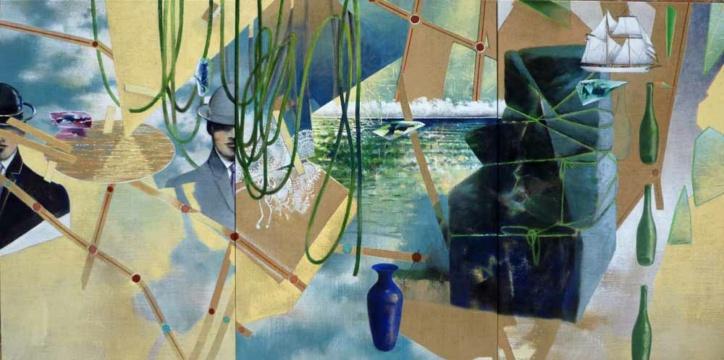 L´Enigme, 2019, Acryl auf Leinwand, 140, x 380 cm