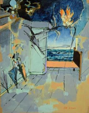 Ohne Titel, 16.09.2020, Acryl auf Papier,  62 x 51 cm